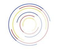 Кольца поворачивают значок, логотип, концепцию безграничности движения, влияние градиента иллюстрация штока