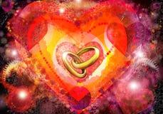 кольца сердец Стоковые Изображения
