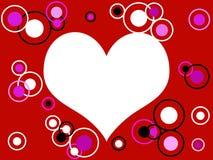 кольца сердца ретро Стоковое Изображение RF