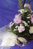 кольца цветков благосклонностей wedding weeding Стоковое Изображение