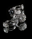 кольца диаманта collectionsof Стоковое фото RF