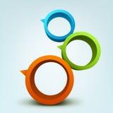 кольца 3d Стоковая Фотография
