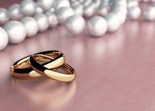 кольца wedding Стоковое Изображение RF
