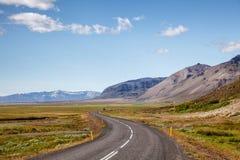 Кольцевая дорога восточная Исландия Скандинавия маршрута 1 стоковое изображение rf