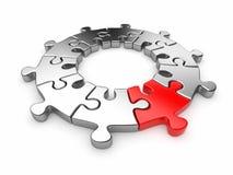 кольцо головоломки зигзага рационализаторства 3d Стоковые Фото