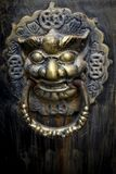 Кольцо двери ретро льва главное стоковые фотографии rf