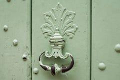 Кольцо двери ручки мяты ржавое железное Стоковые Фотографии RF