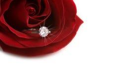 кольцо диаманта годовщины Стоковое Изображение