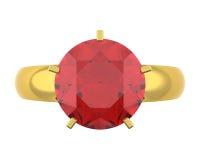 кольцо диаманта золотистое Стоковые Изображения RF