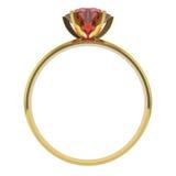 кольцо диаманта золотистое Стоковое Фото