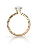 Кольцо диаманта с путем клиппирования Стоковые Фотографии RF
