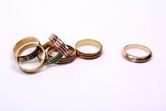 кольцо диаманта уникально Стоковое Изображение