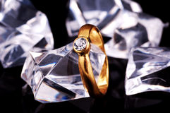 кольцо диаманта Стоковая Фотография RF