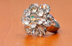 кольцо дорогего jewellery диаманта большое Стоковое Фото
