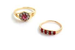 кольцо золота диаманта Стоковые Изображения RF
