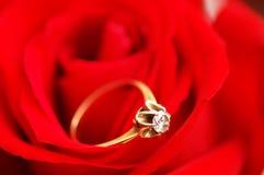 кольцо золота диаманта Стоковое Изображение RF