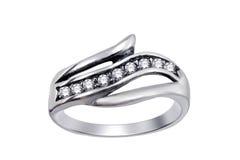 кольцо изолированное gemstones Стоковое Изображение RF