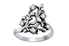 кольцо изолированное gemstones Стоковые Фото