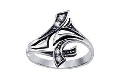 кольцо изолированное gemstones Стоковое Фото