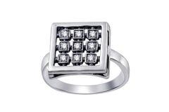 кольцо изолированное gemstones Стоковые Изображения