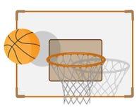Кольцо и шарик баскетбола стоковое фото