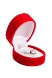 кольцо коробки гениальное Стоковое Фото