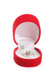 кольцо коробки гениальное Стоковые Фото