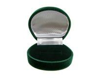 кольцо коробки пустое зеленое стоковая фотография rf