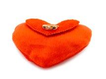 кольцо красного цвета сердца диаманта Стоковые Фото