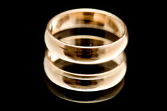 кольцо макроса черного золота Стоковые Изображения RF