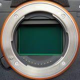 Кольцо объектива полноразмерной камеры с открытой плитой датчика стоковое изображение rf