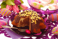 кольцо пасхи торта мраморное Стоковое Изображение RF