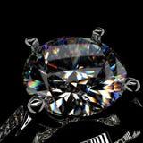 кольцо перевода черного алмаза предпосылки 3d Стоковое Изображение RF