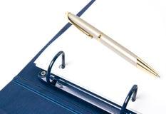 кольцо пер связывателя голубое Стоковое Изображение