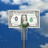 кольцо решетки доллара доски баскетбола шарика Стоковые Изображения RF