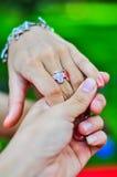 кольцо руки Стоковая Фотография