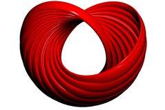 кольцо сердца подняло Стоковые Фотографии RF