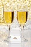 кольцо стекел захвата шампанского Стоковое фото RF