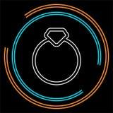 Кольцо с бриллиантом вектора - иллюстрация свадьбы или захвата, символ кольца с бриллиантом бесплатная иллюстрация