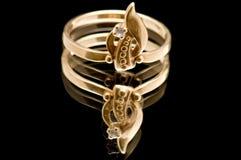 кольцо черного золота Стоковое фото RF