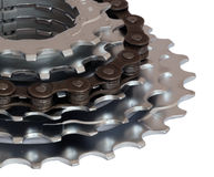 Кольцо шестерни велосипеда стоковые изображения rf