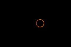 кольцо 2010 затмений Стоковое Изображение RF