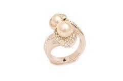 кольцо ckground золотистое изолированное Стоковое Фото