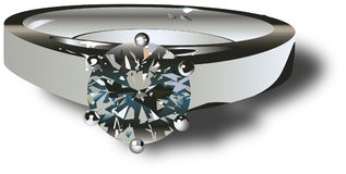 кольцо diamong Стоковое Фото
