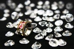 кольцо oxette кристаллов Стоковая Фотография RF