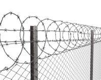 колючий провод верхней части загородки крупного плана chainlink Бесплатная Иллюстрация