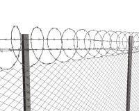 колючий провод верхней части загородки chainlink Стоковые Фото