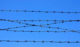 колючий провод загородки детали Стоковая Фотография RF