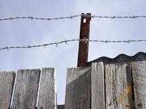 колючий провод загородки Стоковые Фото