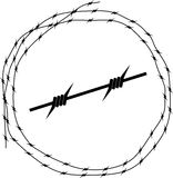 колючий провод круга Стоковое фото RF